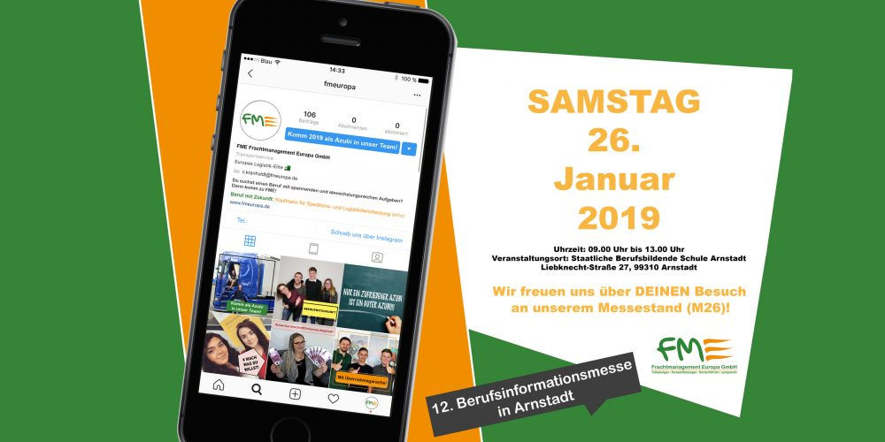 Berufsinformationsmesse 2019 in Arnstadt